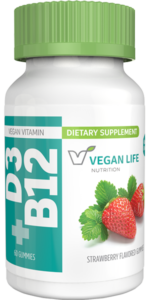 Vitamins D3 + B12 Gummies Bottle