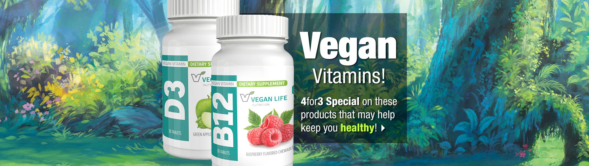 Slide - 4 for 3 Vegan Vitamins
