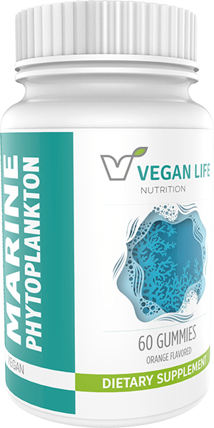Vegan Life Nutrition Marine Phytoplankton Gummies Bottle
