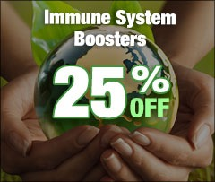 25% Off Immune System Boosters graphic
