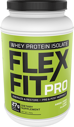 Flex Fit Pro Angel Food Cake Flavor Whey Powder Package