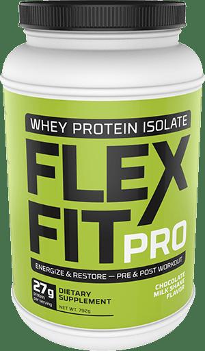 Flex Fit Pro Chocolate Milkshake Flavor Whey Powder Package